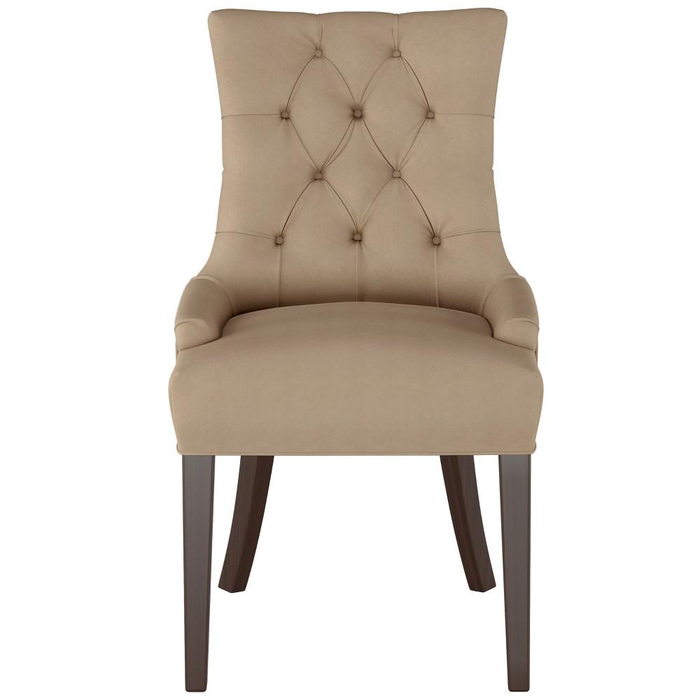 English Arm Dining Chair Tan Velvet - Threshold
