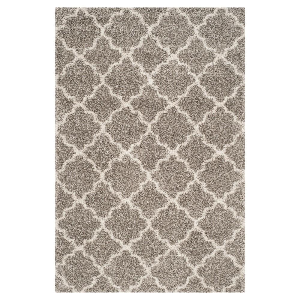 Hudson Shag Rug - Gray/Ivory - (6'X9') - Safavieh