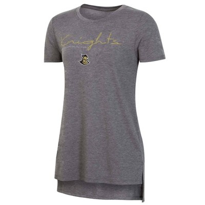 NCAA UCF Knights Women's Short Sleeve Gray Drape T-Shirt