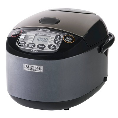 Zojirushi 10 Cup Umami Micom Rice Cooker & Warmer Metallic Black - NL-GAC18BM