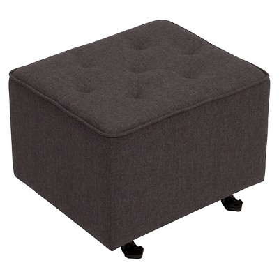 Delta Children® Emma Diamond Tufted Gliding Ottoman - Charcoal