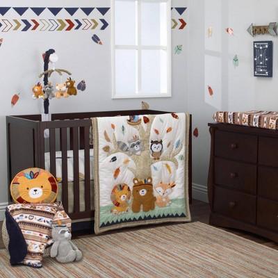 Nojo Aztec Forest Nursery Crib Bedding Set - 4pc