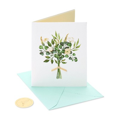 Card Natural Wedding Flowers - PAPYRUS