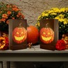 6ct Battery Operated Luminaria Kit- with Timer - Jack O' LED Lantern - image 3 of 3