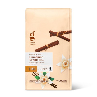 Naturally Flavored Cinnamon Vanilla Light Roast Ground Coffee - 20oz - Good & Gather™