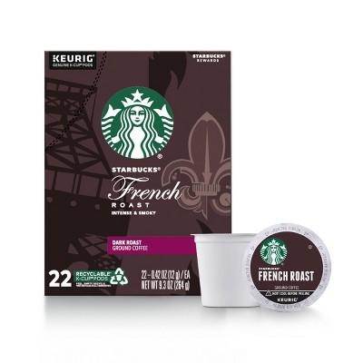 Starbucks French Dark Roast Coffee - Keurig K-Cup Pods - 9.3oz/22ct