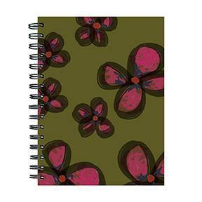 Undated Lined Journal Painted Flowers- TF Publishing