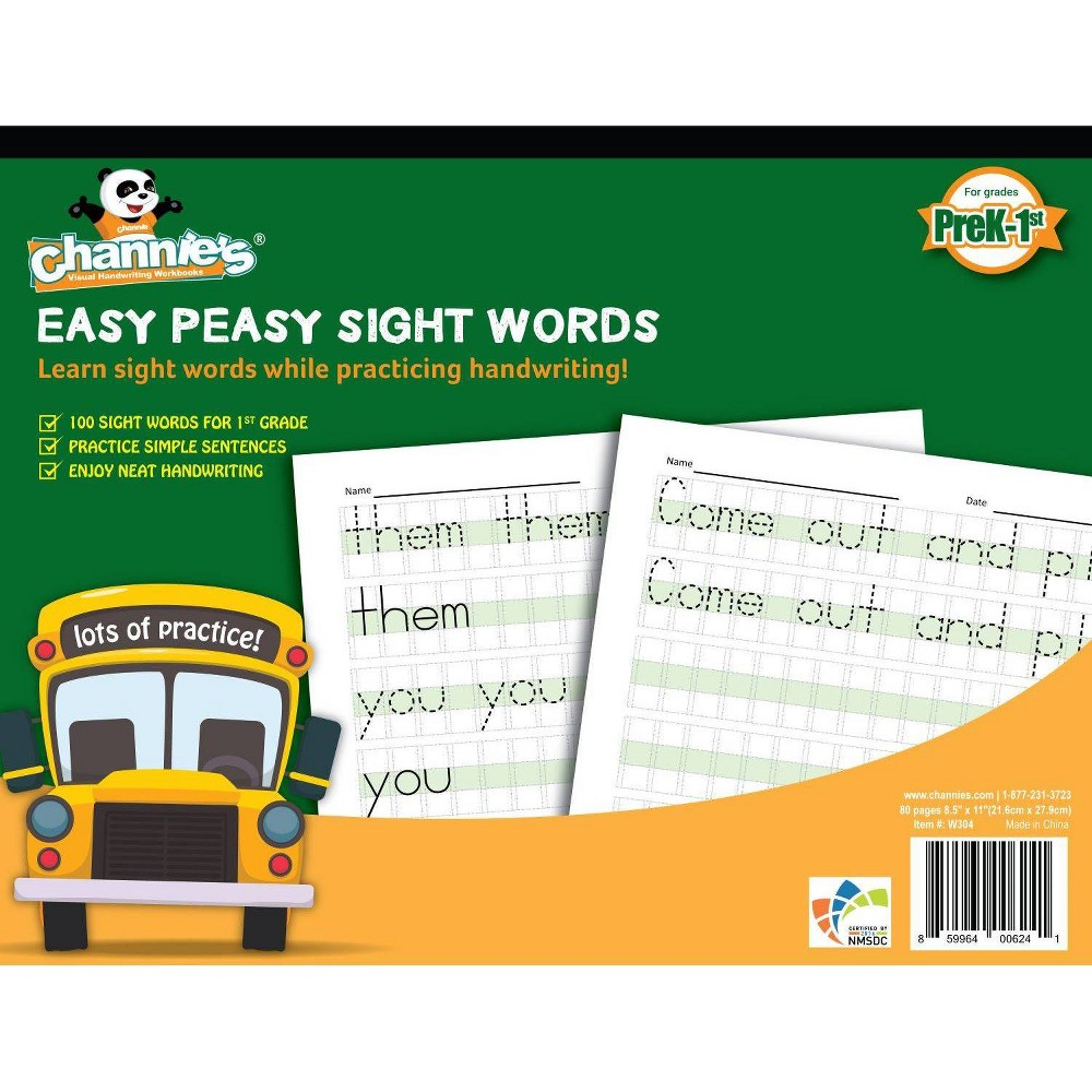 Image of Channie's Easy PeasySight Word Workbook