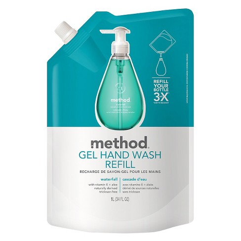 Method Gel Hand Soap Refill Waterfall 34oz - image 1 of 3