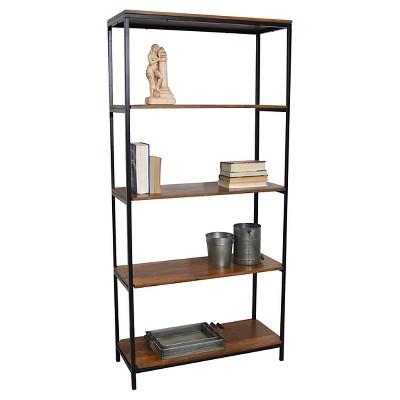 "72"" Flynn Tall Bookcase Chestnut/Black - Carolina Chair & Table"