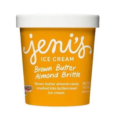 Jeni's Brown Butter Almond Brittle Ice Cream - 16oz