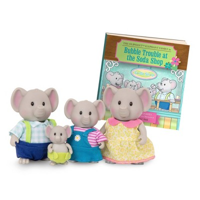 Li'l Woodzeez Miniature Animal Figurine Set – The Oliphant Elephant Family