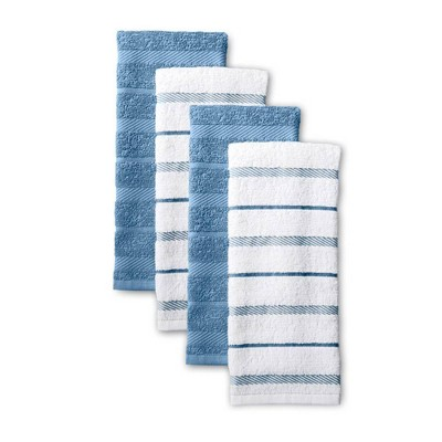 KitchenAid 4pk Cotton Albany Kitchen Towels Light Blue