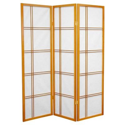 5 ft. Tall Double Cross Shoji Screen (3 Panels) - Oriental Furniture