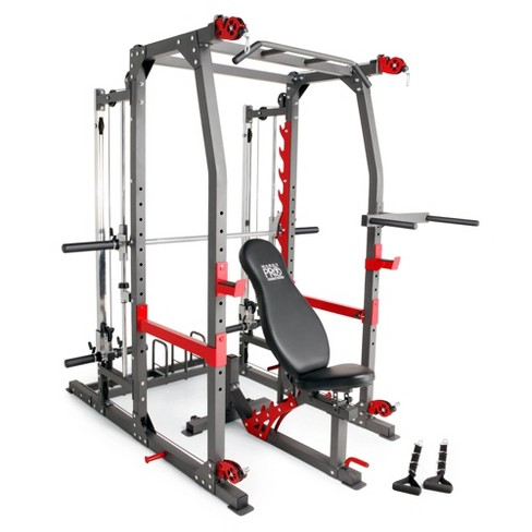 Marcy Pro Smith Machine Weight Bench Home Gym Total Body Workout Training System - image 1 of 4