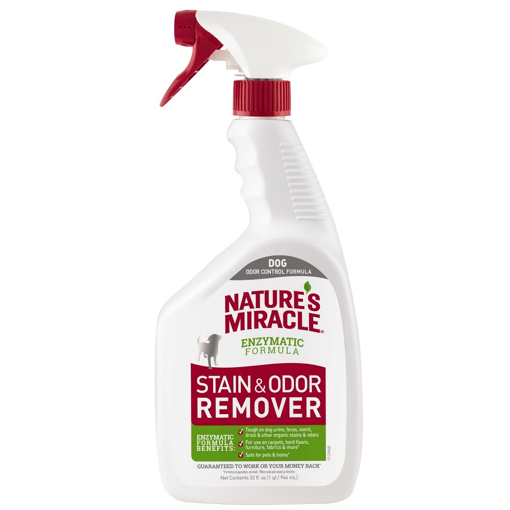 Nature 39 S Miracle Spray Pet Stain And Odor Remover Enzymatic Formula 32 Oz