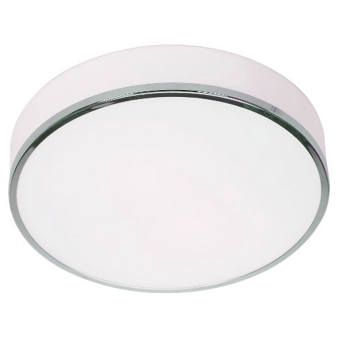 Aero Flush Mount with Opal Glass Shade - Chrome - image 1 of 1
