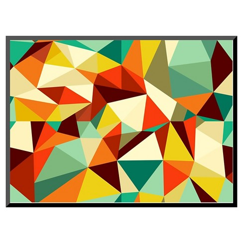 Art.com Trendy Vintage Geometric Seamless Pattern - Mounted Print - image 1 of 2