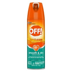 OFF! 4oz FamilyCare Insect Repellent Smooth & Dry
