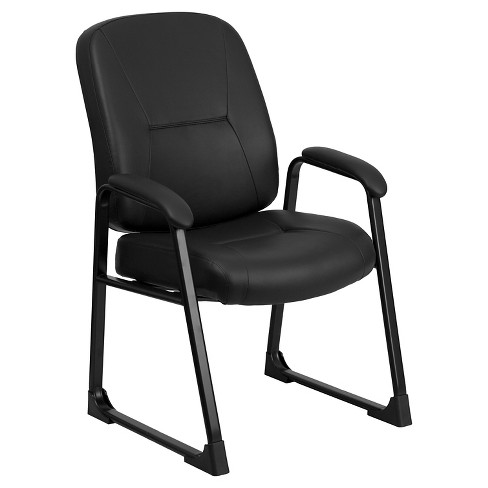 HERCULES Series 400 lb. Capacity Big & Tall Executive Side Chair Black Leather - Flash Furniture - image 1 of 4