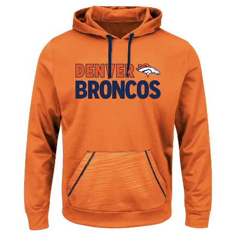 premium selection 35be8 35ff3 Denver Broncos Men's Performance Pullover Fleece Hoodie Sweatshirt L