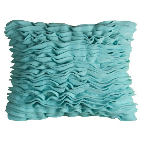 Aqua Fleece Reef Throw Pillow - (13x18) - Rizzy Home - image 1 of 1