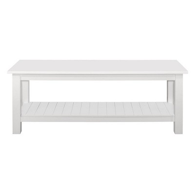 50'' Country Style Entry Bench With Slatted Shelf - White - Saracina Home : Target