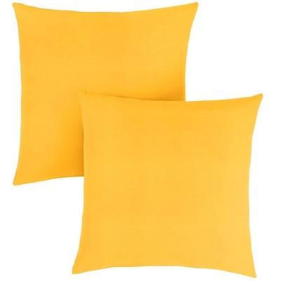 Sunbrella 2pk Outdoor Throw Pillows Sunflower Yellow