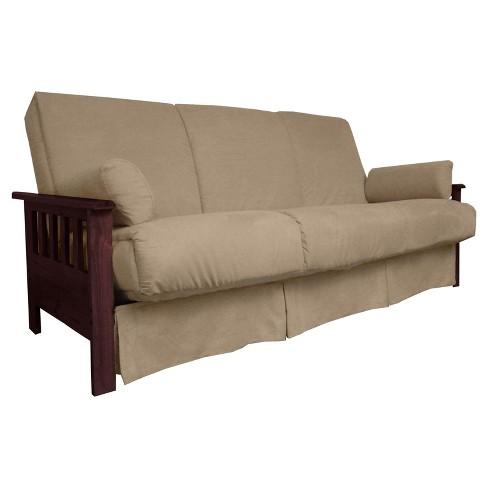 Mission Perfect Convertible Futon Sofa Sleeper Mahogany Wood Finish Sit N Sleep