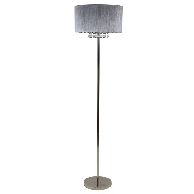"""63"""" Penelope String Floor Lamp Brushed Nickel - Decor Therapy"""