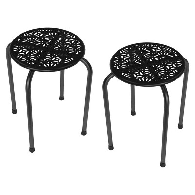 Side Table / Stool Black (Set of 2)- urb SPACE