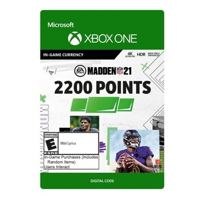 Madden NFL 21: 2200 Madden Points - Xbox One (Digital)