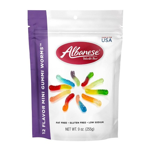 Albanese World's Best 12 Flavor Mini Gummi Worms - 9oz - image 1 of 4