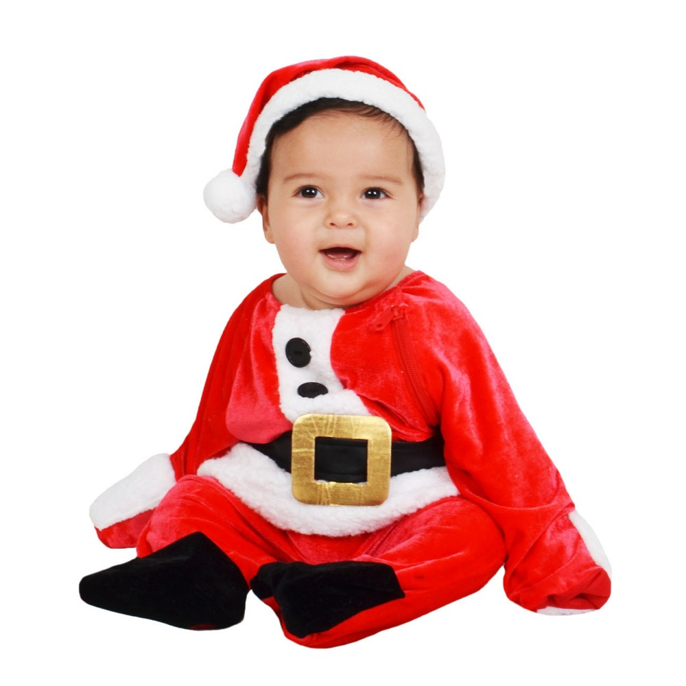 Baby Plush Santa Jumpsuit Costume 6-12M - Wondershop, Infant Unisex, Red