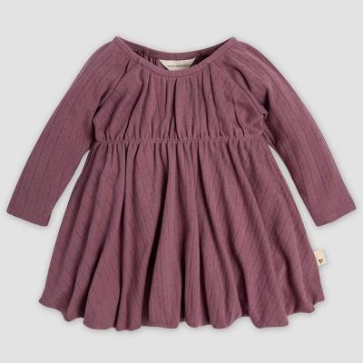 Burt's Bees Baby® Baby Girls' Pointelle Bubble Organic Cotton Dress - Purple 0-3M
