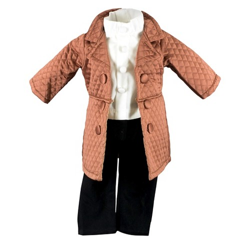 The Queen's Treasures® 18 Inch Doll Clothes Outfit 3pc Diamond Quilted Jacket, White Shirt & Black Pants - image 1 of 6