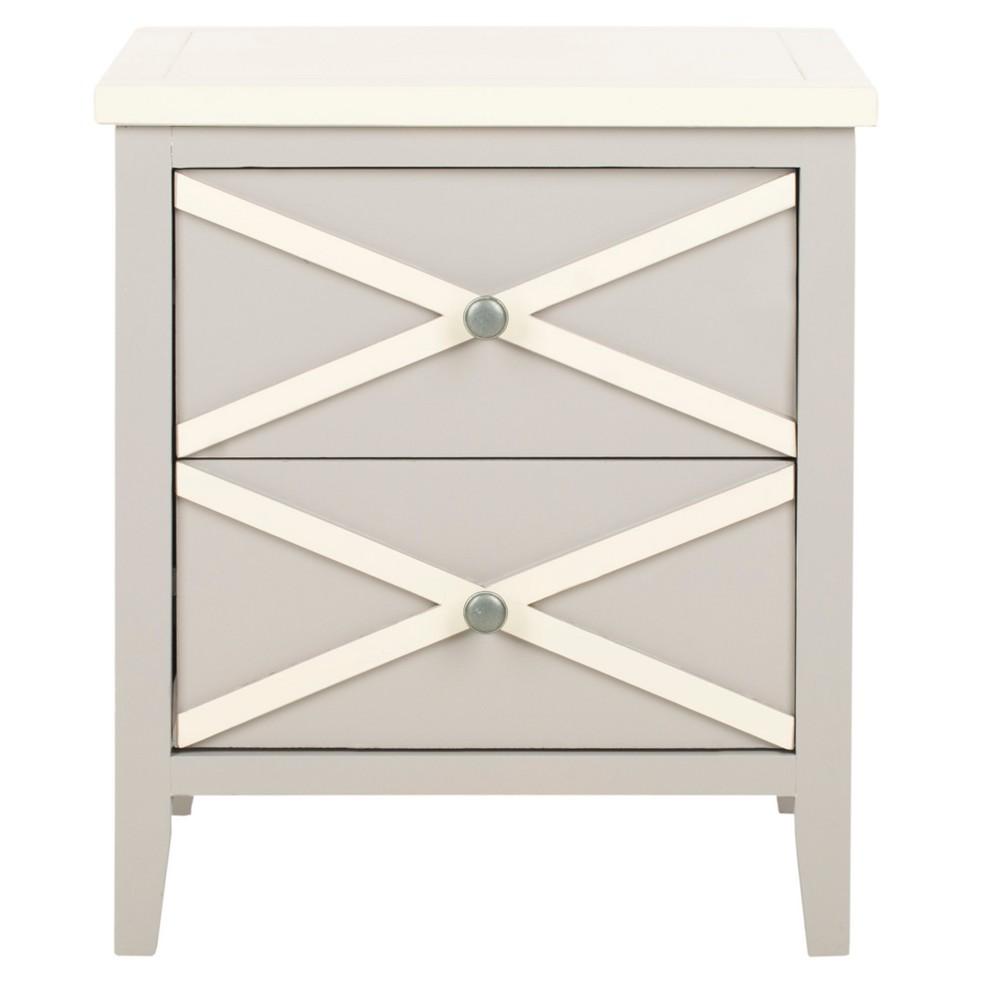 Flora Side Table Gray/White - Safavieh