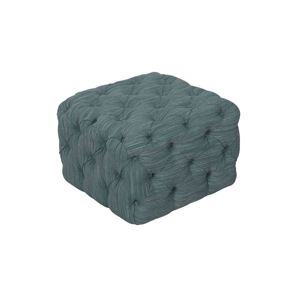 Medium Square All Over Tufted Ottoman Dark Blue - HomePop was $169.99 now $127.49 (25.0% off)