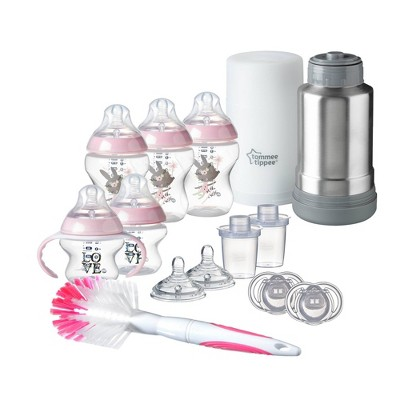 Tommee Tippee Closer to Nature Newborn Baby Bottle Gift Set - Pink