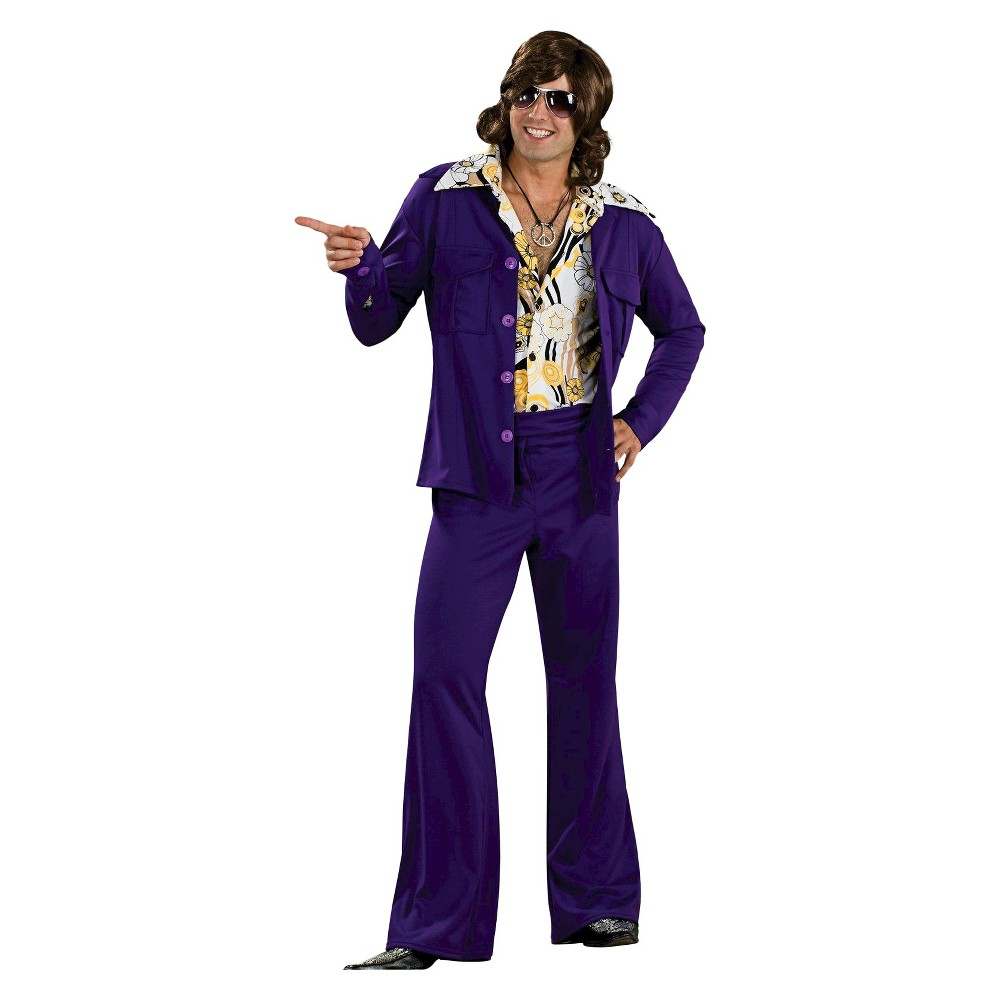 Men's Leisure Suit Deluxe Costume Purple One Size