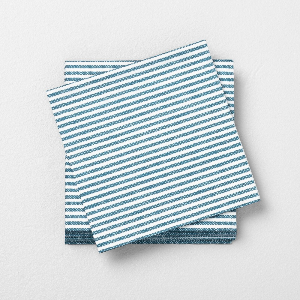 Image of Disposable Beverage Napkin Blue - Hearth & Hand with Magnolia