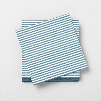 Disposable Beverage Napkin Blue - Hearth & Hand™ with Magnolia