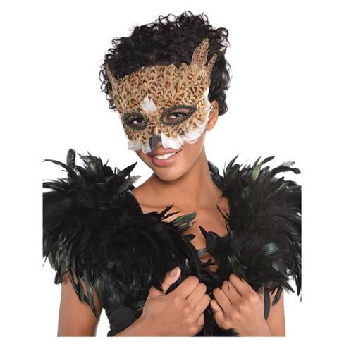 Owl Bird Feather Halloween Costume Mask Target