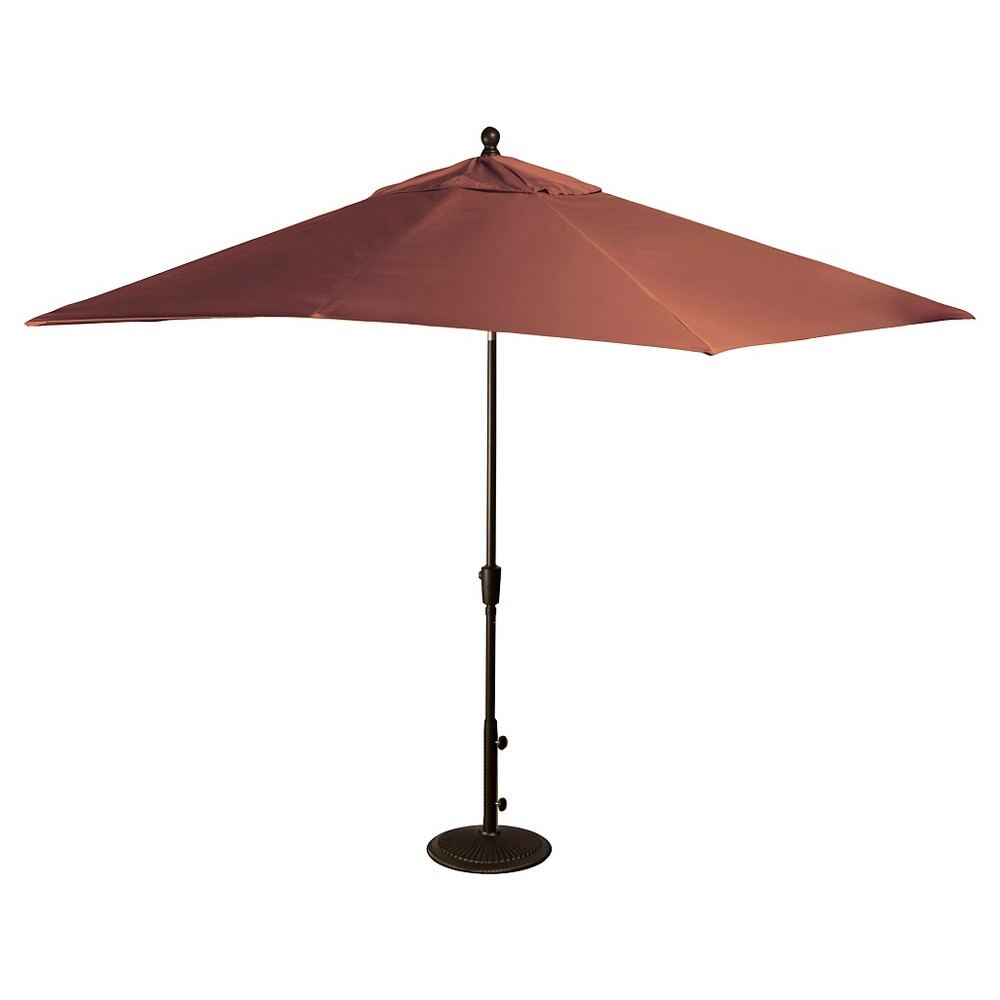 Image of Island Umbrella Caspian Market Umbrella in Terra Cotta Olefin - 8' x 10', Terracotta