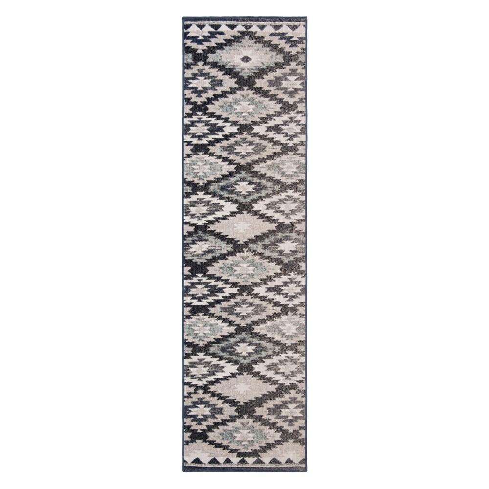 22X8 Geometric Design Loomed Runner Gray/Black - Safavieh Buy