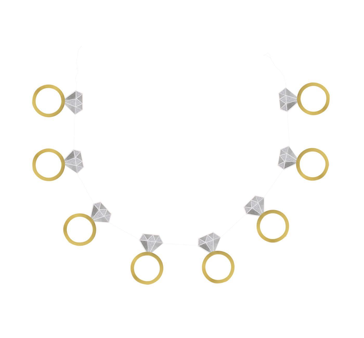 "60"" Engagement Ring Banner Gold - Spritz™ - image 1 of 1"