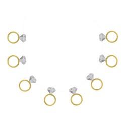"60"" Engagement Ring Banner Gold - Spritz™"