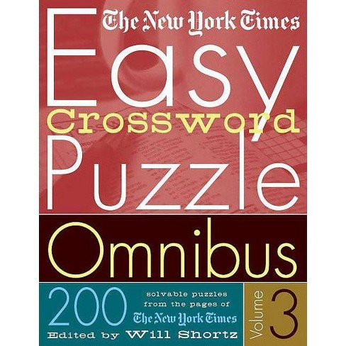 The New York Times Easy Crossword Puzzle Omnibus Volume 3 - (Paperback) - image 1 of 1