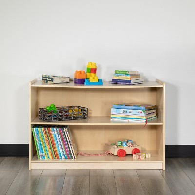 Flash Furniture Wooden School Classroom Storage Cabinet for Commercial or Home Use - Safe, Kid Friendly Design (Natural)