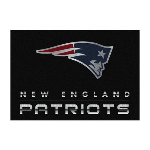 NFL New England Patriots 6'x8' Chrome Rug - image 1 of 2